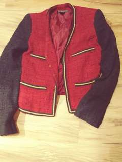 🚚 mango 紅色女外套
