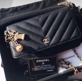 👍🏻BEST SELLING Chanel Chevron WOC