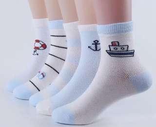 Little Kid Sock - SRW431  Size 1-2yo Size 2-5yo Size 5-7yo Size 8-12yo  Per set contain 5 pairs   Design: as attach photo