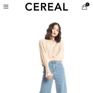 全新Cereal 高腰丹寧寬褲