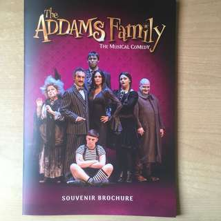 Addams Family Musical Souvenir Booklet