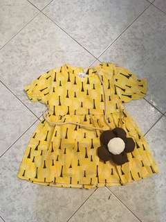 Bb yellow dress