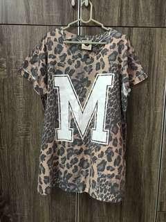 Cotton on leopard print tshirt