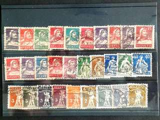 Switzerland vintage stamps