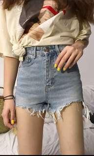 PREORDER: Rolpa Ripped Denim Shorts