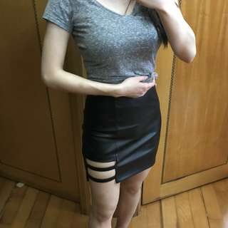Faux Leather Sexy Skirt