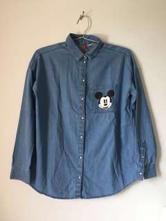 H&M Mickey Denim Shirt