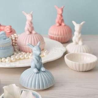 【🆕現貨】可愛白兔陶瓷首飾盒 Rabbit Ceramic Jewellery Box