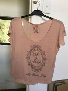 Tulle & Batiste Under the Willows Tee Beige Size L