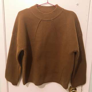 Thick brown Korean sweater