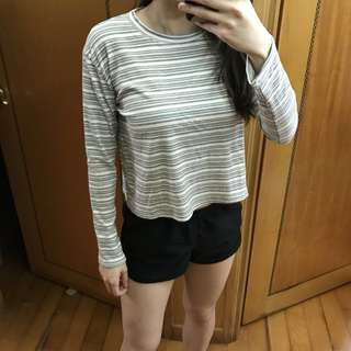 Stripes/ Grey/ Green colours Top