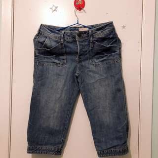 Mid length jeans