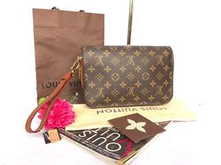 Authentic Louis Vuitton Mono Orsay Clutch