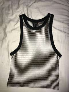 Forever 21 Navy Blue Striped Top