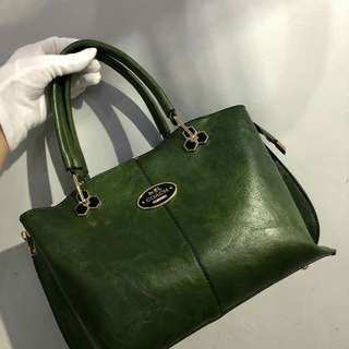 Coach Tote Bag Green Color