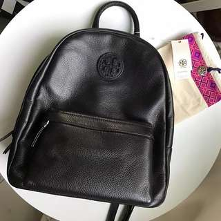 Tory Burch full leather backpack - black