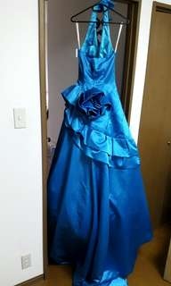 Blue Balloon long gown for sale or rent