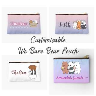 Customisable We Bare Bears | Marble | Ombre | Name Pouch