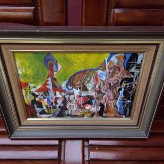 Oil Painting On Canvas with Frame