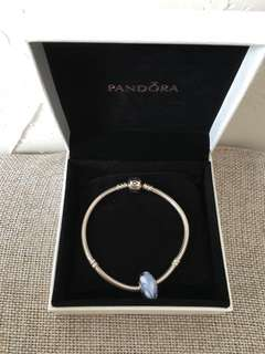 Pandora Bracelet with Glass Charm