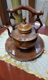 Antique wooden kettle