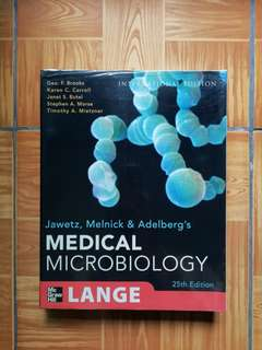 Medical Microbiology, Jawetz, Melnick & Adelberg's, International Edition (25th edition)