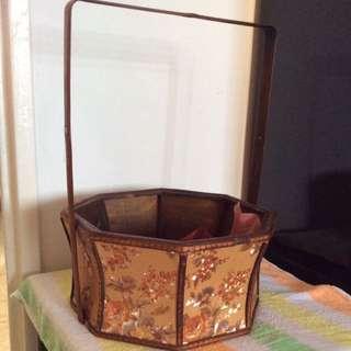 Octagon Wooden Basket