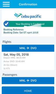 Manila-Davao Ticket