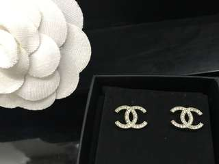 Chanel Earrings CC Classic 100% Authentic