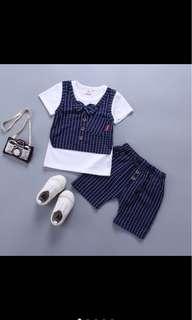 Kid boy infant toddler top pants set