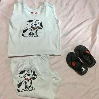 Terno sando and pajama with sandal