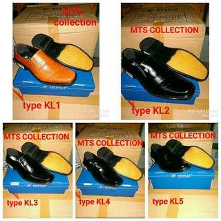 Sepatu pantofel kulit sapi asli