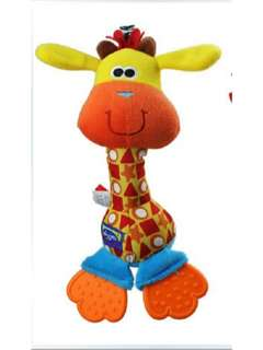 Playgro My First Cheeky Chime Teether Giraffe Hand Bell Rattle Stick Plush Toy