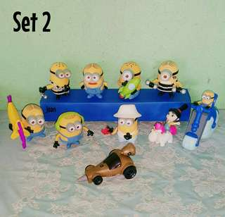 MINIONS (Despicable Me) Happy Meal Toys