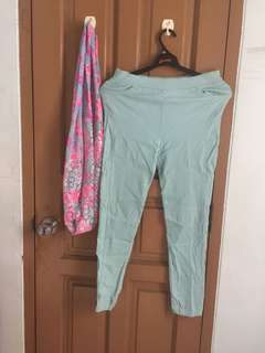 Stretch Pants (free Justice scarf)