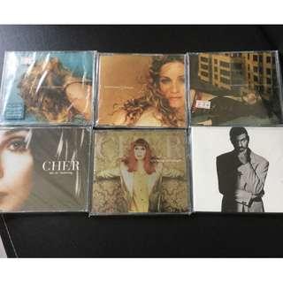 Madonna /Cher/george single CD 6pcs