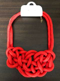 Twisted Knot Paracord Statement Necklaces