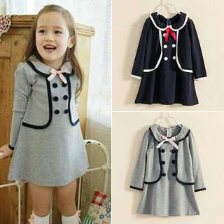 *FREE DELIVERY to WM only / Pre order 15-18 days* Kids cotton blend princess dress long sleeve each as shown design/color. Free delivery is applied for this item.