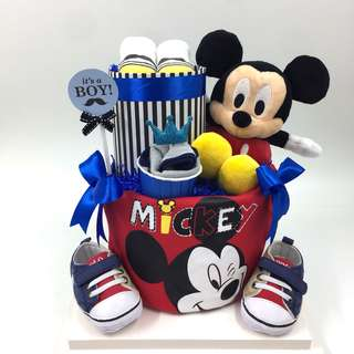 Ready Made- 2-tier Micky Mouse Diapers Cake
