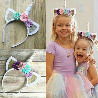 *FREE DELIVERY to WM only / Pre order 15-18 days* Unicorn headband each as shown design/color. Free delivery is applied for this item.