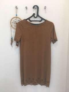 New Look Brown Suede dress