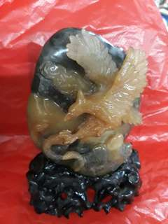 寿山石(老鹰与蛇搏斗)