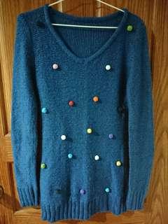 📣服飾任3件9折喔!彩色球球針織毛衣