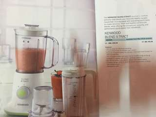 Kenwood blend x-tract