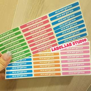 Customised Name stickers