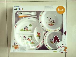 BN Philips Avent Toddler Mealtime Set