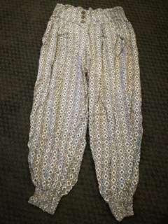 Patterned Harem pants