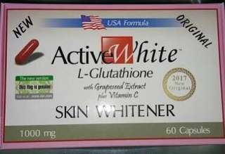 Active White L-Glutathione 1000mg in 60 capsules