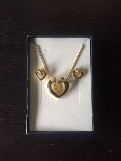 Korean necklace and earring set