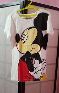 White mickey mouse shirt